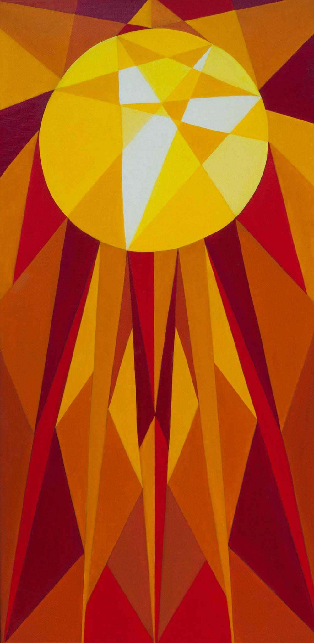 Sun / 12x24in / Oil