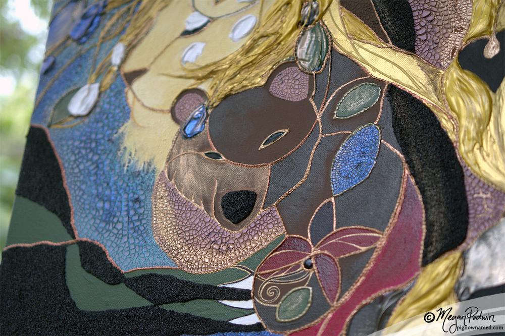 """""""Sylvia's Guardians"""" (bear detail)"""