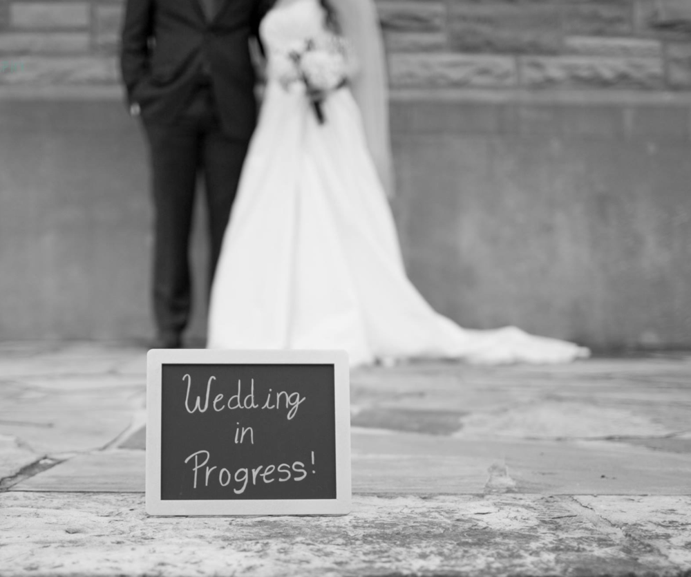 black and white bride and groom alabama wedding