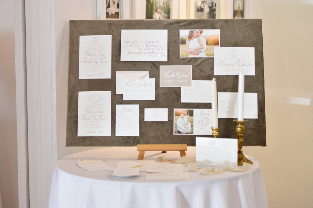 wedding invitation design board
