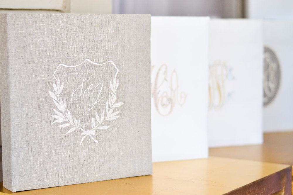 monogram wedding gift