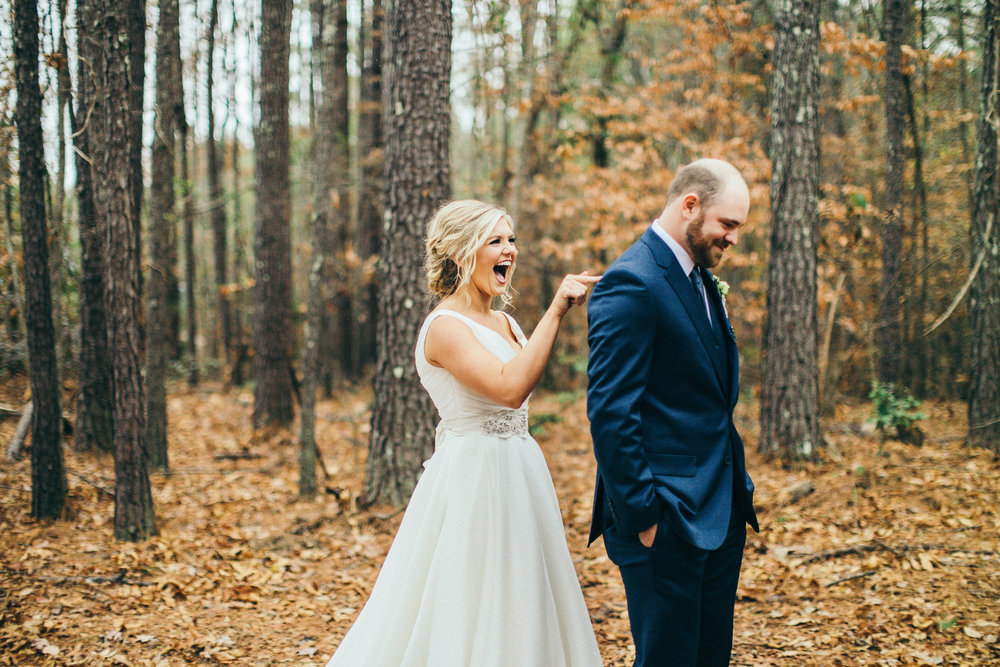 alabama wedding first look pure excitement