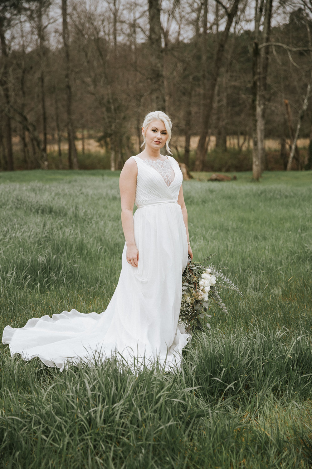 wedding dress bridal portrait