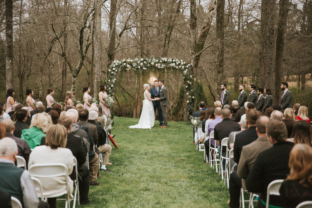 fall outdoor wedding