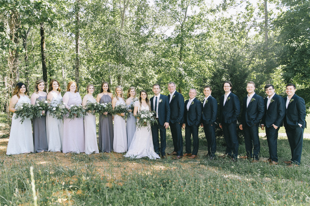 full bridal party alabama wedding