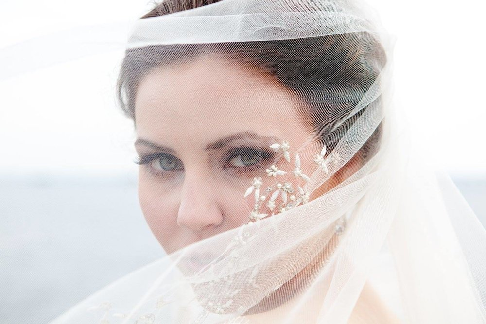 scotland wedding bridal veil and makeup