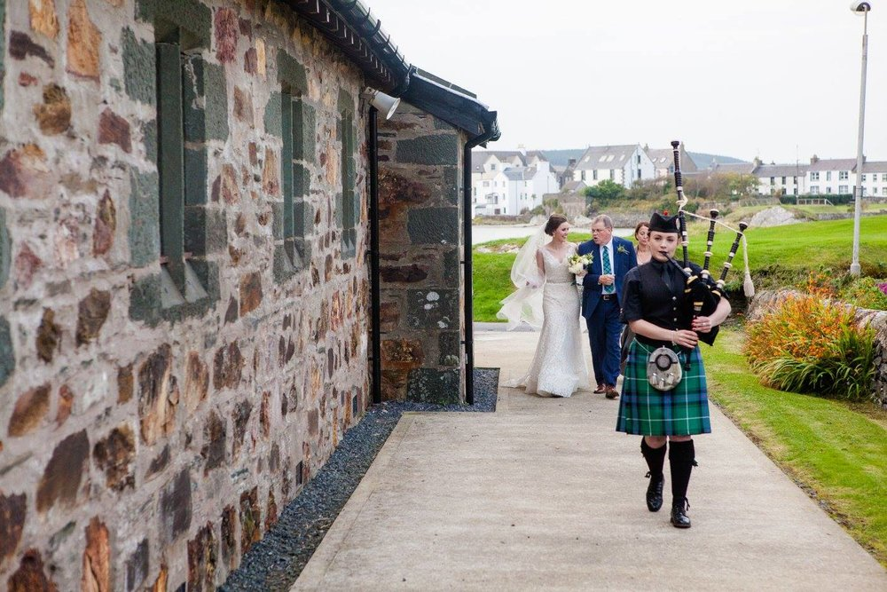 scottish wedding bagpipes