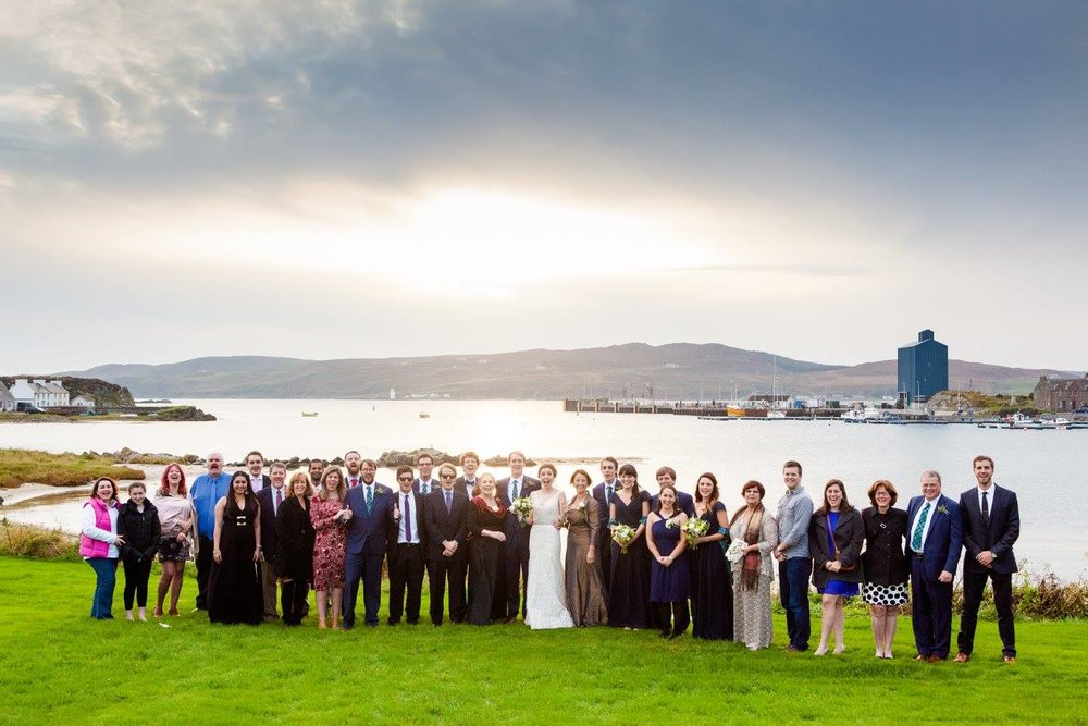 Destination wedding scotland bridal party