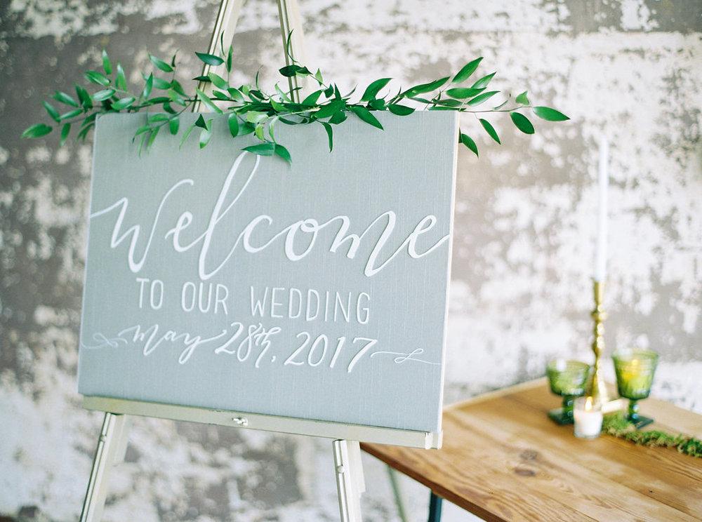 alabama wedding welcome sign