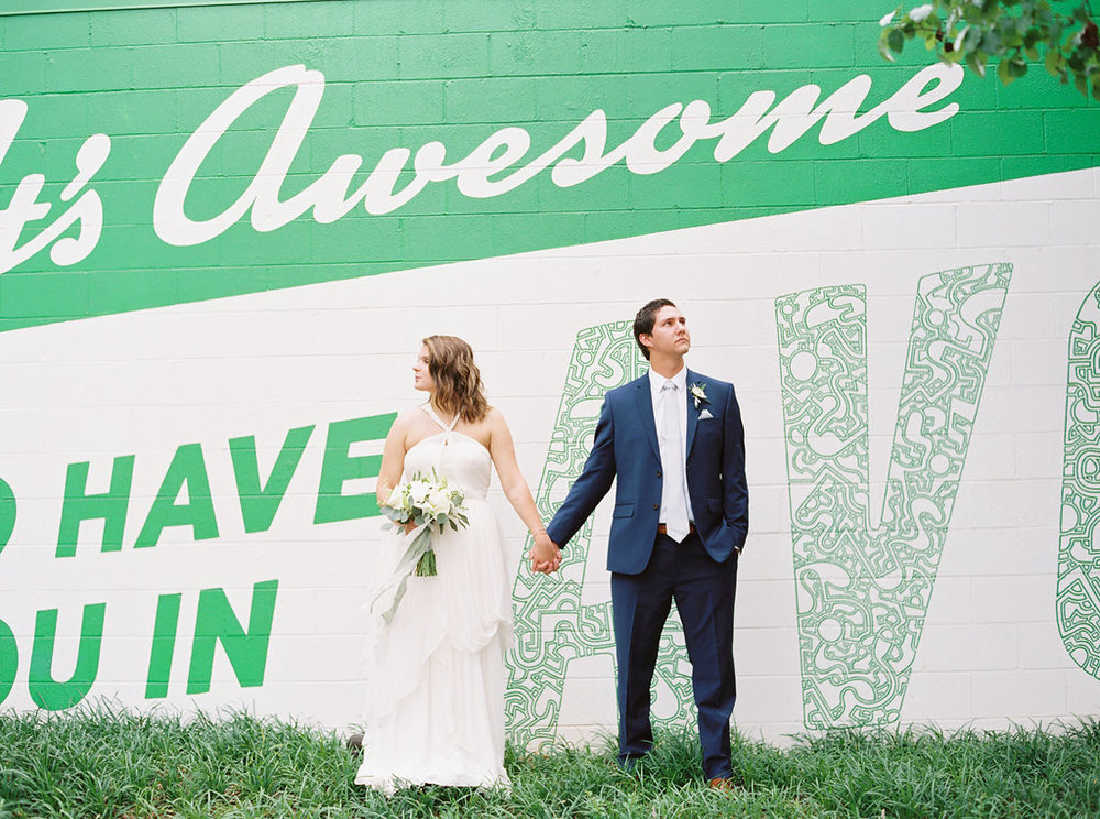 bride and groom alabama wedding