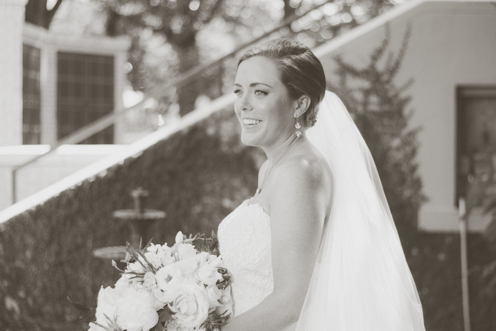 black and white bride alabama wedding