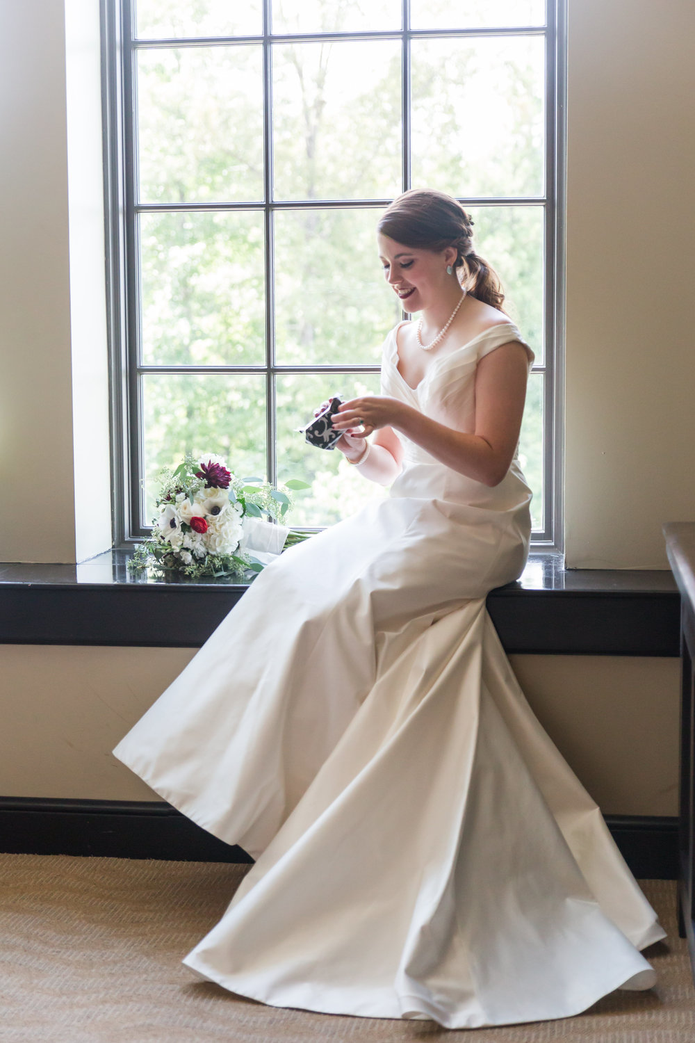 white wedding dress bridal portrait