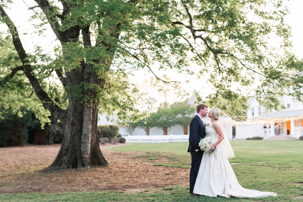 bride and groom portraits alabama wedding