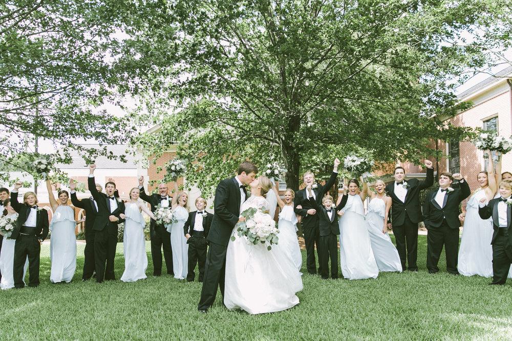 full bridal party alabama wedding