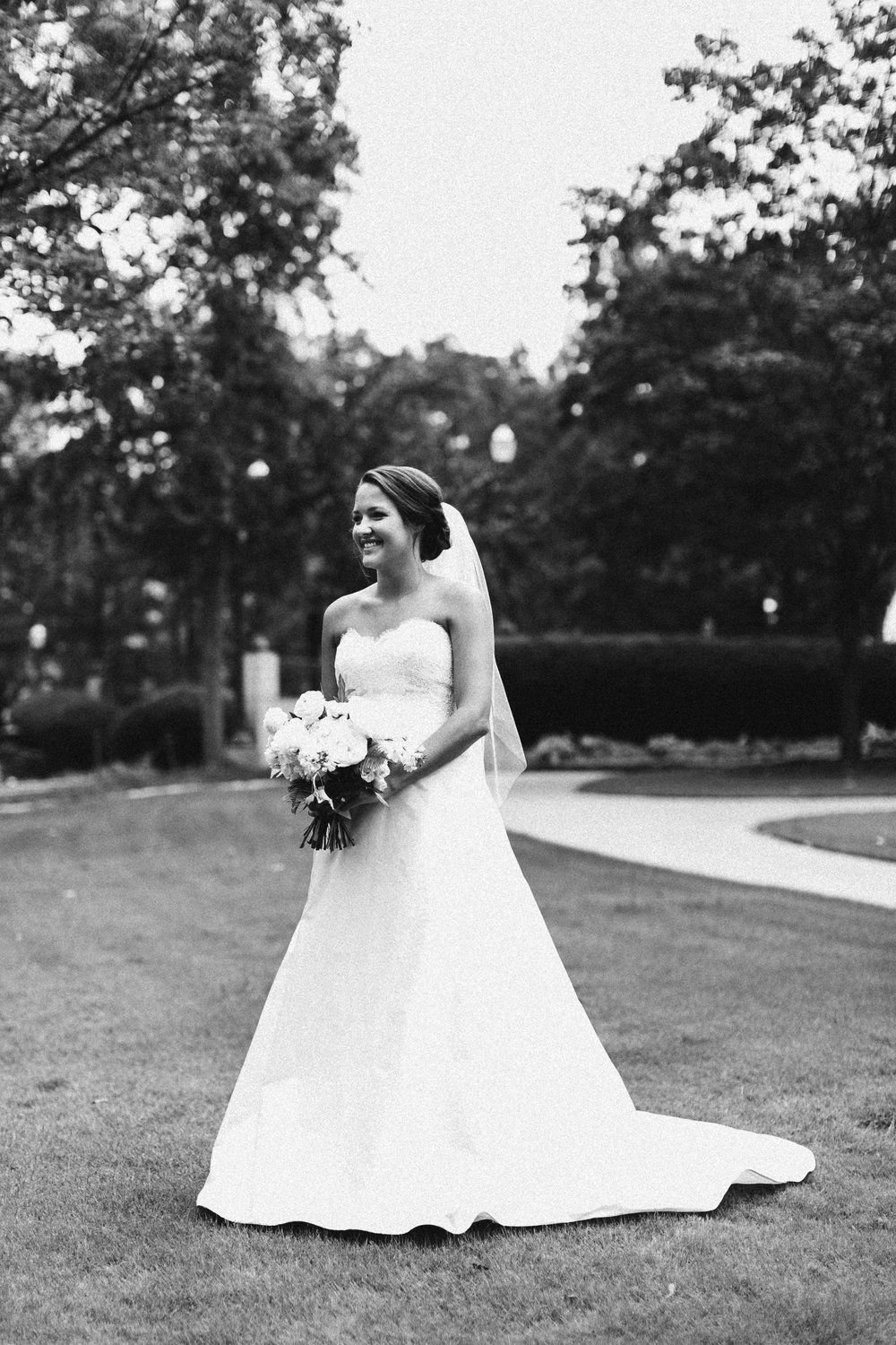bridal portraits white wedding dress alabama wedding