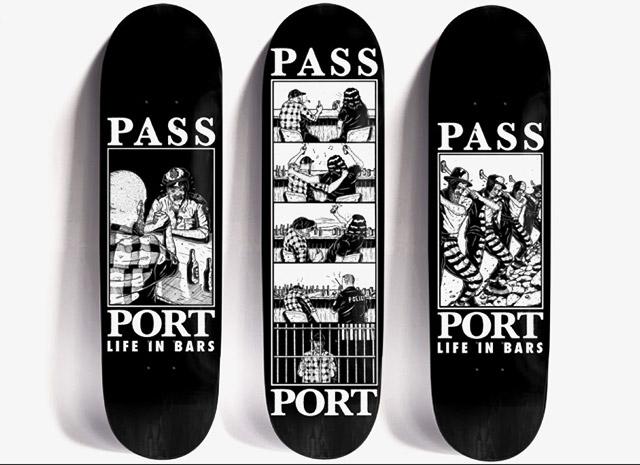 Pass-Port skate deck graphics by Marcus Dixon