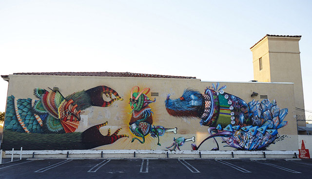 Nosego x Curiot mural for Branded Arts, LA