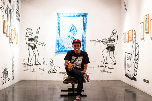 Ryan at his 'Permanent Vacation' exhibition at Deus Gallery, Bali