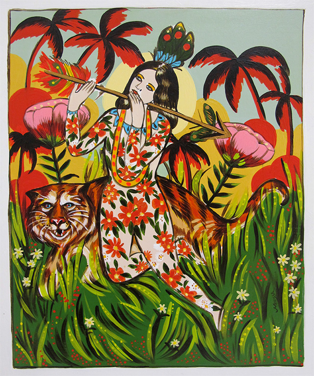 'Queen of the Jungle' original painting by Melissa Grisancich