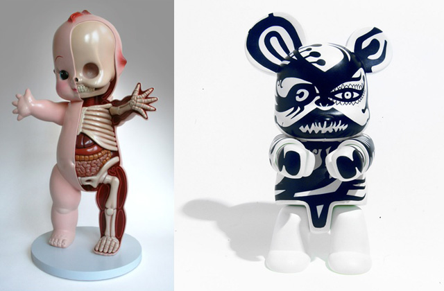The work of Jason Freeny (left) and Jaime Hayon (right)