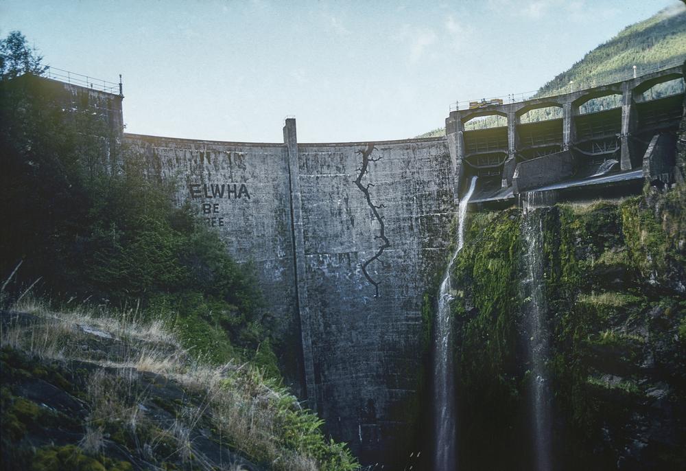 Glines Canyon Dam, Elwha River, Washington. Photo: Mikal Jakubal