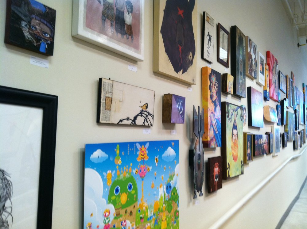Art Whino gallery wall, 2011.