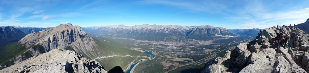 Pano view from the summit of Ha Line Peak.