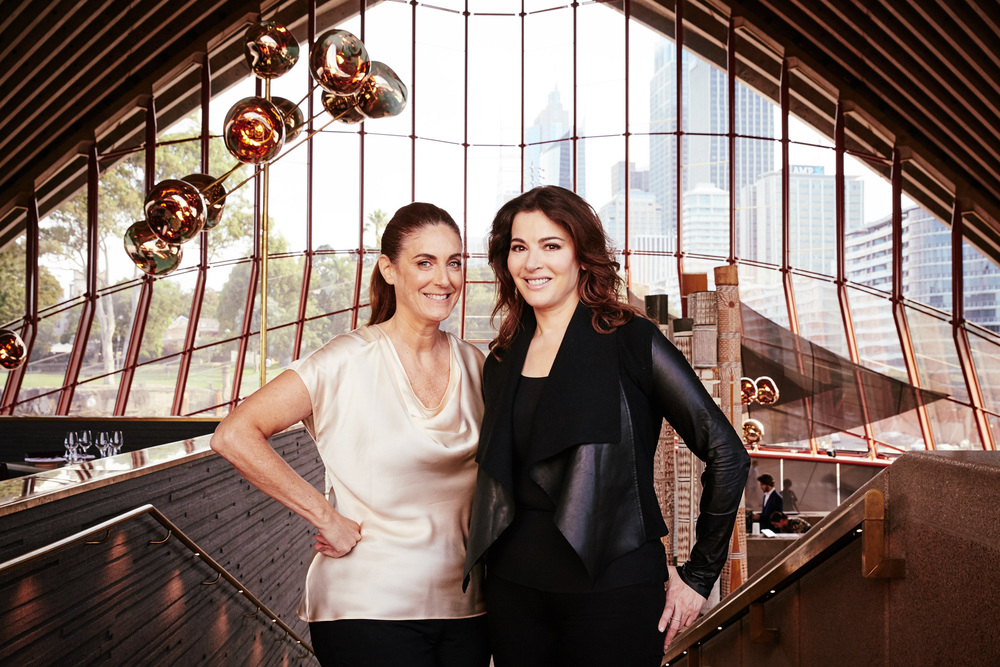 Jackie Frank and Nigella Lawson  Marie Claire