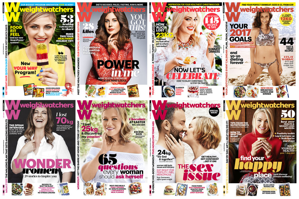 A collection of covers  Weight Watchers Magazine