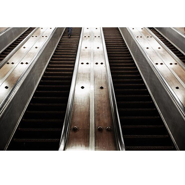 The old Otis escalators at Wynyard. They were already an artwork.  #minimalism #straightlines #repetition #itwasalreadyart #oldsydney #streetphotography #personal #otis  #sydney #heritage #wheneverythingoldisnewagain