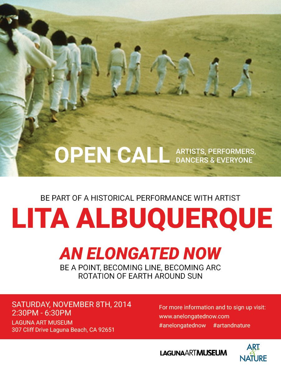 I'll be a leader in this Lita Albuquerque piece, sign up here to be in my gang.  Transportation to Laguna Beach will be provided, it'll be fun and you will be participating in a historical art piece.