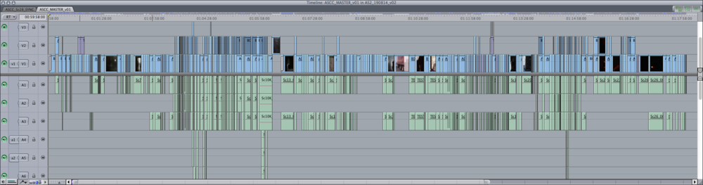Antisocial 2 Final Cut Edit Timeline 18 min
