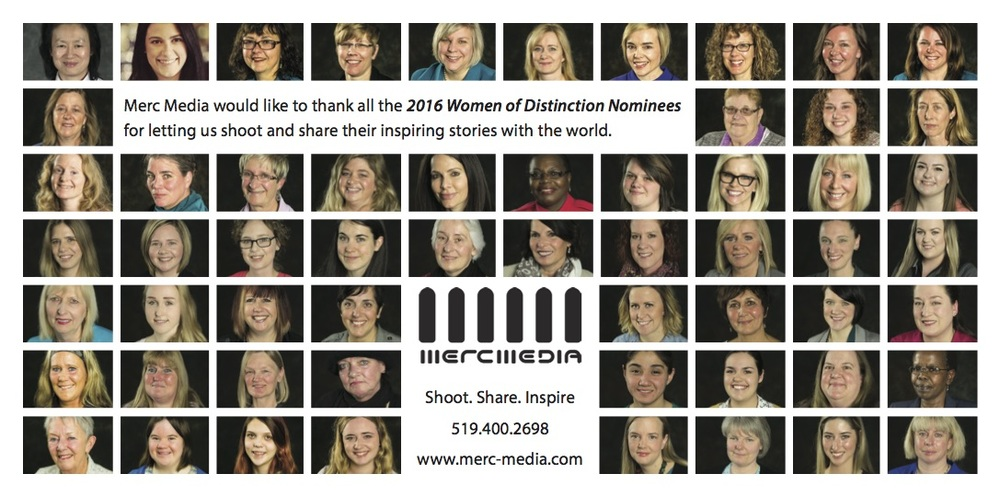 Merc Media proud sponsor of Women of Distinction Guelph 2016