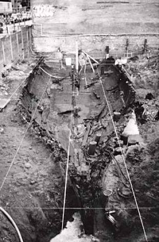 The ship General Harrison excavated in 1968