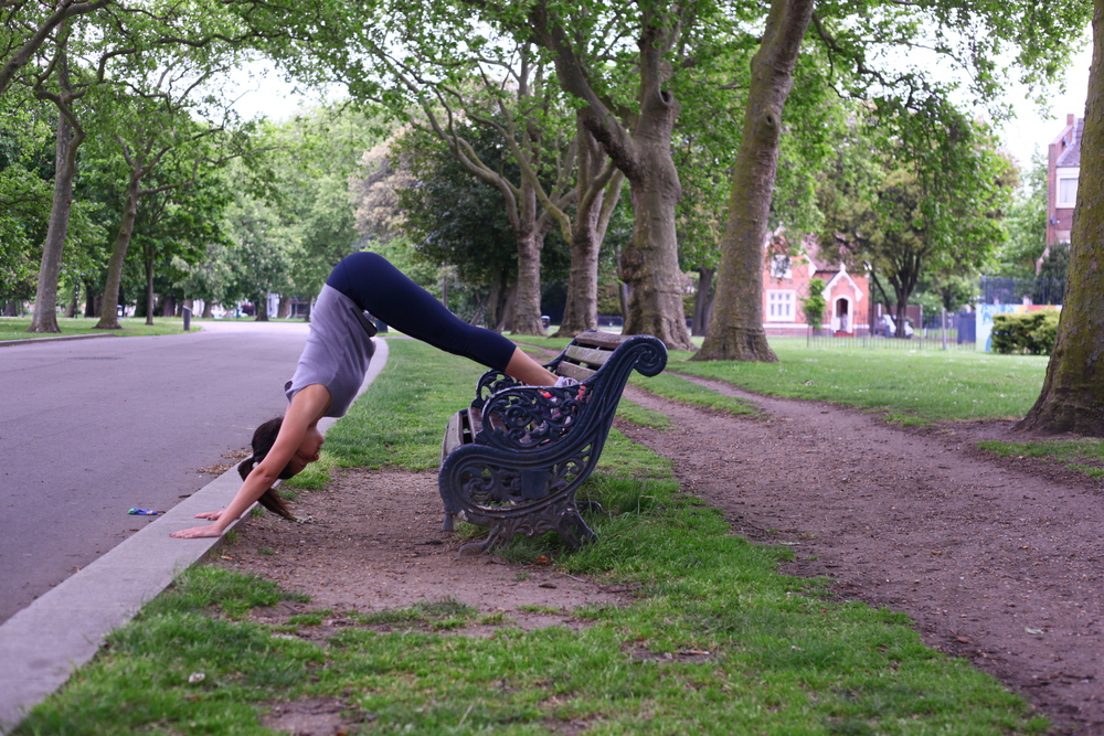 Handstand push up variation