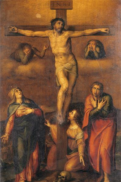 "Michelangelo, ""Crucifixion with Mary and John"",  1540"