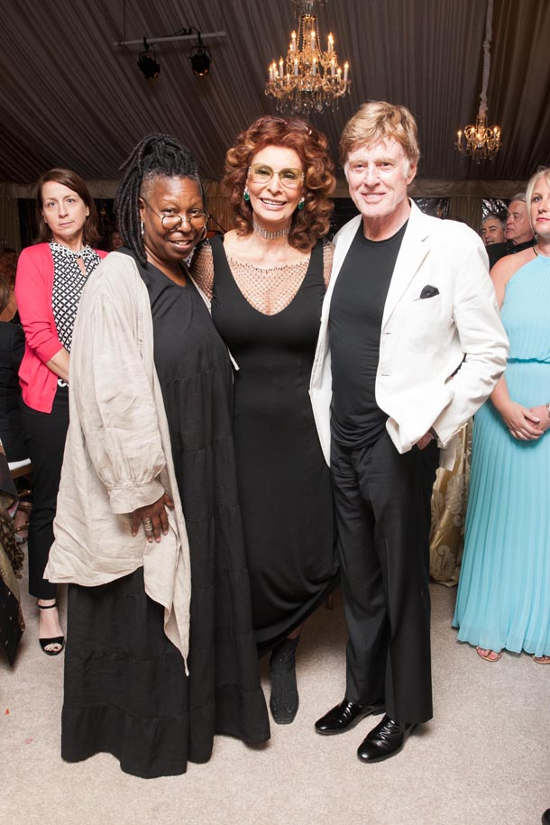 Whoopi Goldberg, Robert Redford, and Sophia Loren Enjoying Themselves at the event!  Photo Credit: Festival Del Sole