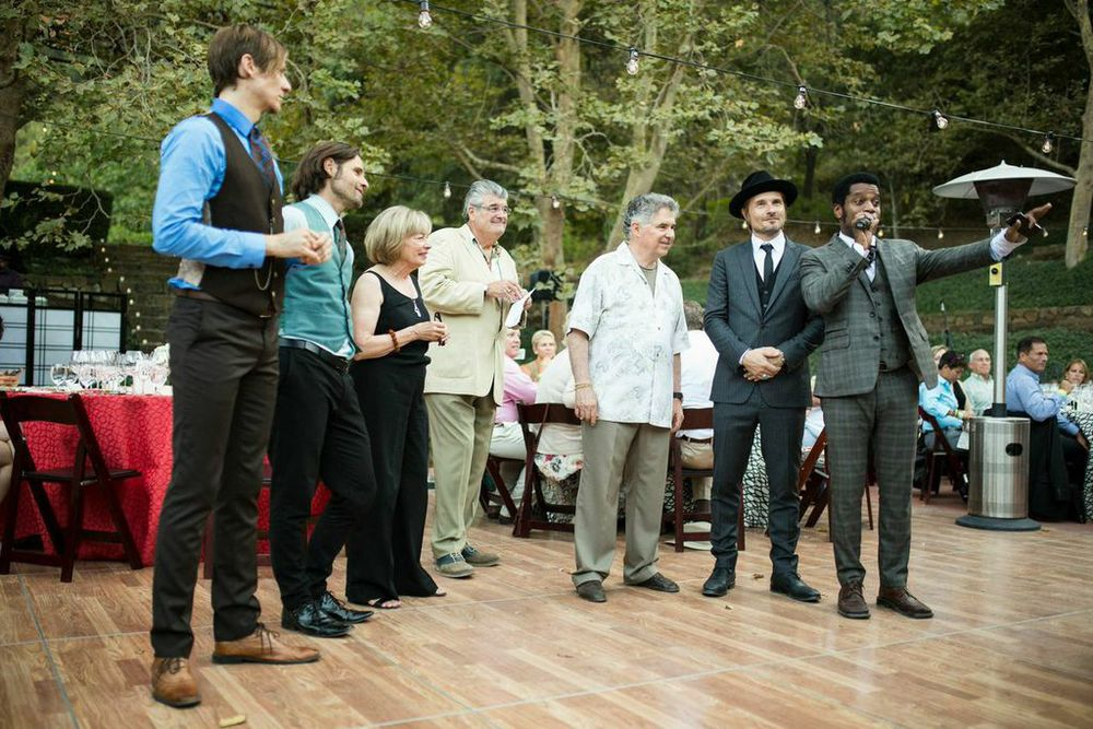 Vintage Trouble Sharing Some Words With The Staglins and Crowd.  Courtesy Photo
