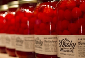 Bottles of Ole Smoky Tennessee Moonshine Cherries.   Courtesy Photo