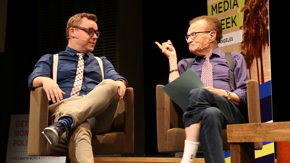 Larry King with Will McFadden  Courtesy Photo