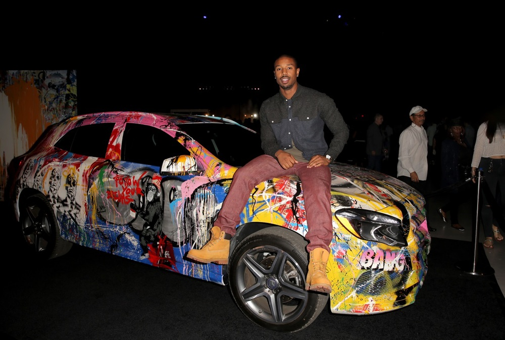 Michael B. Jordan was one of a few celebrities to join in on the fun!  Photo Credit: Getty Images
