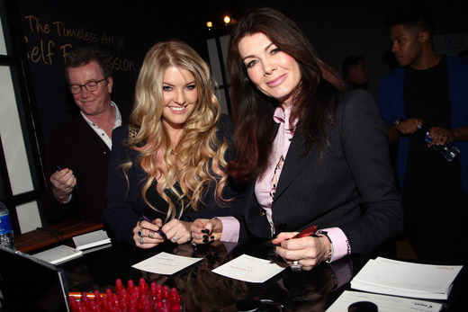TV personality Lisa Vanderpump and Pandora Todd attend the Pilot Pen and GBK Luxury Lounge honoring Golden Globe nominees and presenters held at the W Hollywood on January 9, 2015 in Hollywood, California. (Photo by Tommaso Boddi/Getty Images for GBK Productions)