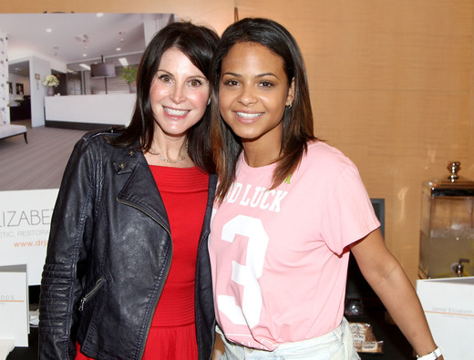 Christina Milian with Dr. Jamie Sands- Cosmetic Dentist. Photo Courtesy of Getty Images