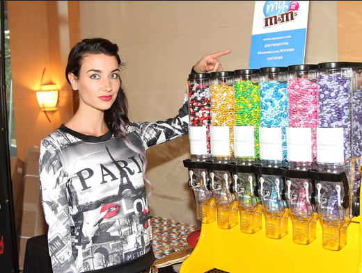 Filling Up on M&Ms. Photo Courtesy of Getty Images
