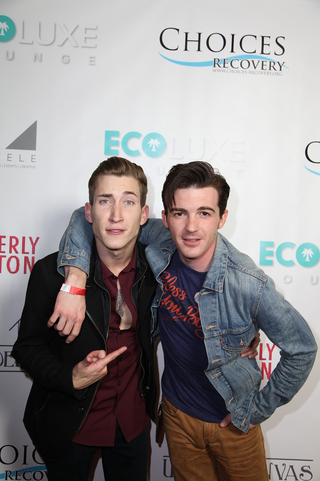 Talon Reid and Drake Bell attend 'Salute to the Stars' Oscar Party. Courtesy Photo