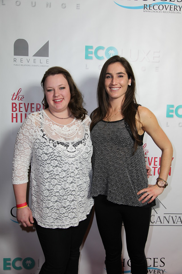 Home Business Magazine Editor, Shannah Henderson (right) attends the 'Salute to the Stars' Oscar Party Presented by Choices Recovery. Courtesy Photo