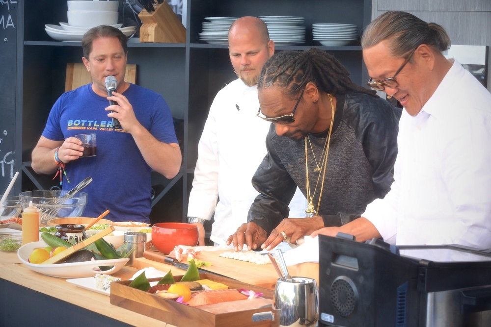 Snoop Dogg with Chef Morimoto! Courtesy Photo