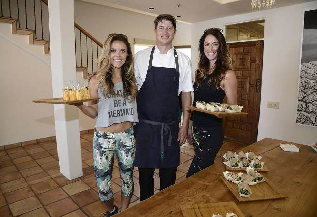 Karina and Katrina of Tone it Up with Chef Alex Williams! Photo Credit: Dan Steinberg
