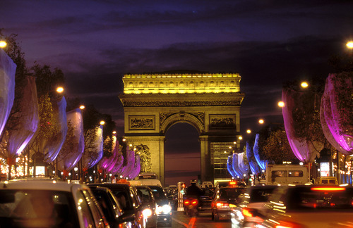 Champs-Elysées at Night.  Photo Credit: Paris Tourist Office - Photographer : Angélique Clément
