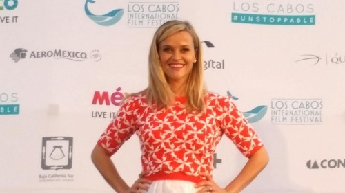 Reese Witherspoon discusses her latest film, 'Wild', at the Los Cabos International Film Festival press conference. Photo Credit: Meagan Sargent